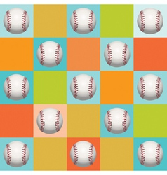 Baseball Pattern Background vector image vector image