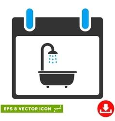 Bath calendar day eps icon vector