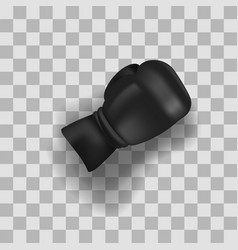 black boxing glove vector image vector image