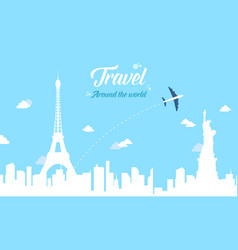 Collection stock of travel style background vector