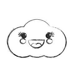 Cute cloud kawaii cartoon vector