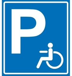 Disabled person parking sign banner on vector image vector image