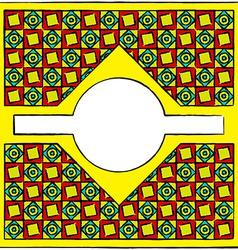 Drawn cubism ornamental frame vector