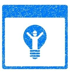 Electrician calendar page grainy texture icon vector