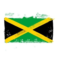 Flag of Jamaica on a white background vector image vector image
