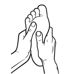 foot massage vector image