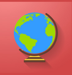 globe icon earth symbol vector image vector image