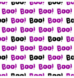 Halloween tile pattern with boo text on white vector