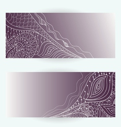 hand drawn abstract floral cards vector image vector image