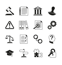 Law consulting legal compliance icons vector