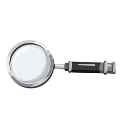 Magnifier translator icon cartoon style vector