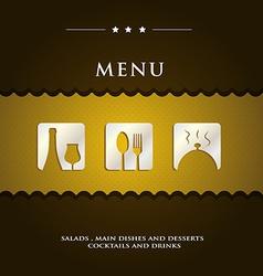 modern restaurant menu vector image vector image