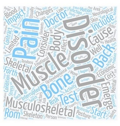 Musculoskeletal disorders and back pain text vector