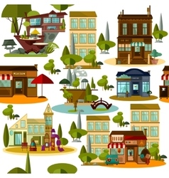 Seamless modern urban pattern vector