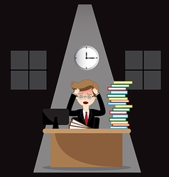 stressed business man vector image
