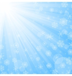 Sun beams and snowflakes vector image vector image