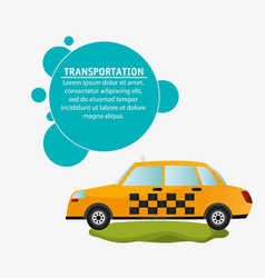 Taxi car service transport design vector