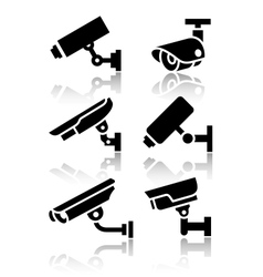 Video surveillance new big set stickers vector image vector image