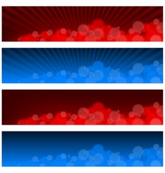 Blurry banners vector