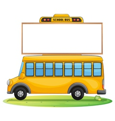 a school bus and board vector image