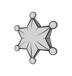 Six pointed star icon black monochrome style vector