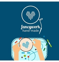 Kids handmade  fancywork vector