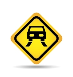 Traffic sign concept icon car road vector