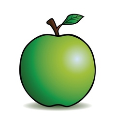 Healthy cartoon apple vector image