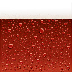 Dark red water droplets with foam vector