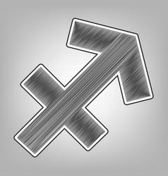 Sagittarius sign   pencil vector