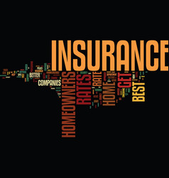 Best homeowners insurance rates how can you get vector