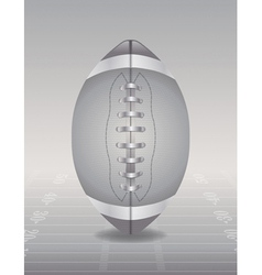 Silver football and field vector