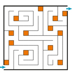 Linear confused square maze vector