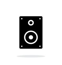 Audio speakers icon on white background vector