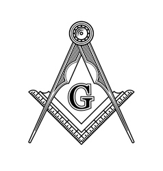 Masonic freemasonry emblem icon logo vector