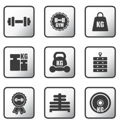 Set of weight icons vector
