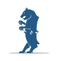 Heraldic elements Bear vector image