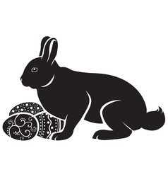 Easter bunny hatches vector