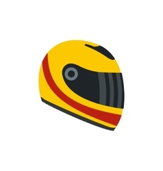 Racing helmet flat icon vector image