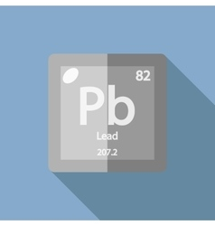 Chemical element lead flat vector