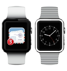 Smart watches with email on the screen vector