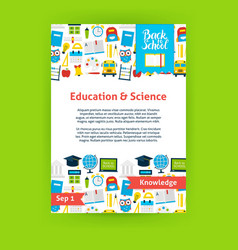 Education science poster template vector
