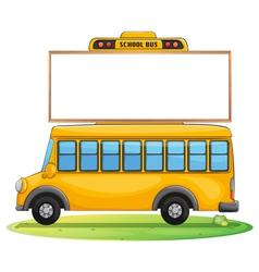 a school bus and board vector image vector image