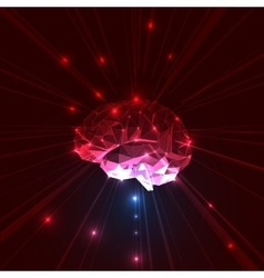 Abstract Brain vector image