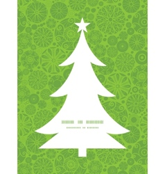 Abstract green and white circles christmas tree vector