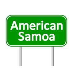American samoa road sign vector
