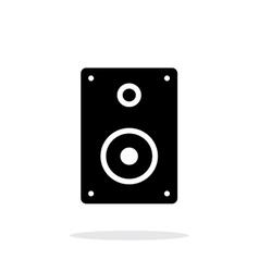 Audio speakers icon on white background vector image