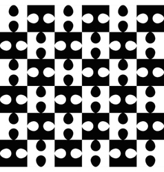 Black and white puzzle seamless pattern vector image vector image