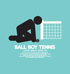 Black symbol ball boy tennis vector