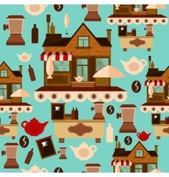 Coffee house seamless pattern vector